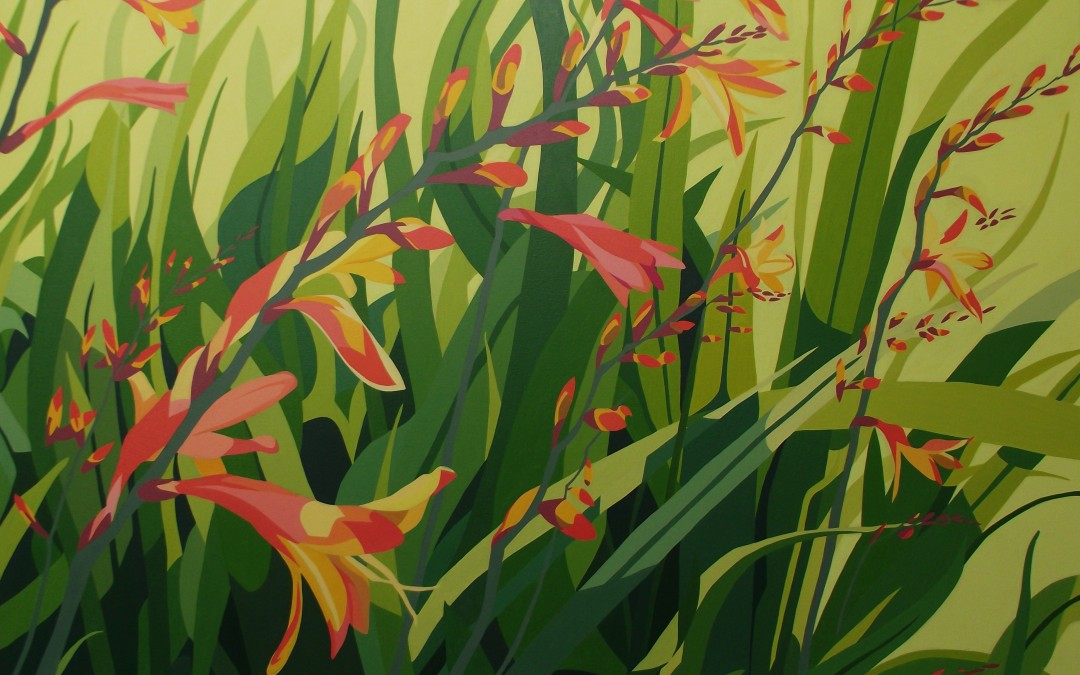 Summer - Orange crocosmia, dancing foliage and sunshine p17