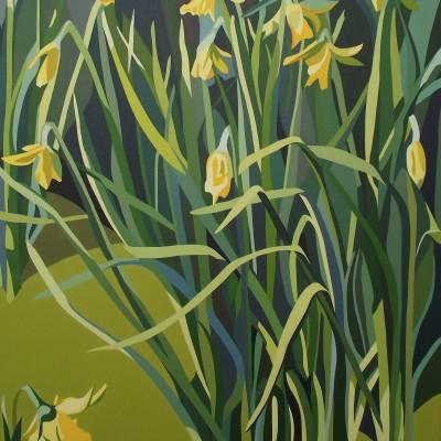 Winter - Tall daffodile and tangled foliage