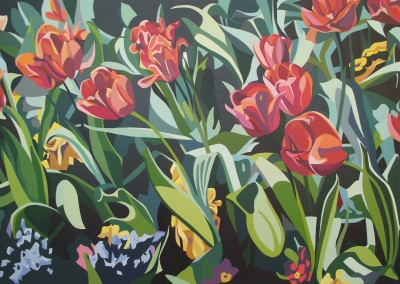 Spring - Tulips and tangled foliage